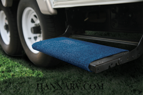 Camco 42924 Blue RV Wrap Around Step Rug
