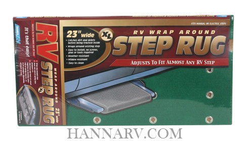 Camco 42933 Green RV Wrap Around Step Rug XL