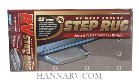 Camco 42935 Grey RV Wrap Around Step Rug XL