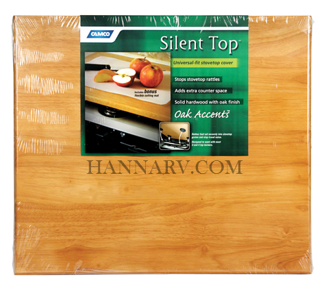 Camco 43521 RV Marine Oak Universal Silent Top Stovetop Cover