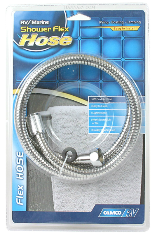 Camco 43716 60 Inch Chrome Flexible RV Shower Hose