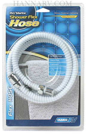 Camco 43717 60 Inch White Flexible RV Shower Hose