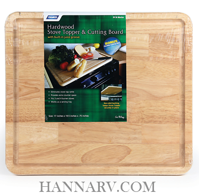 Camco 43753 RV Marine Oak Hardwood Stove Topper And Cutting Board