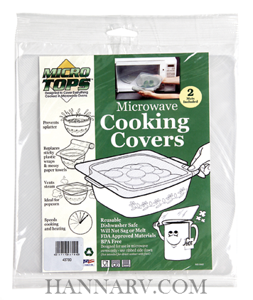 Camco 43790 RV Marine Microwave Cooking Covers - 2 Pack