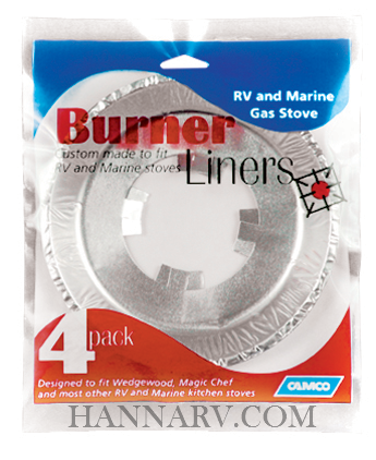 Camco 43800 Gas Stove Burner Liners - 4 Pack