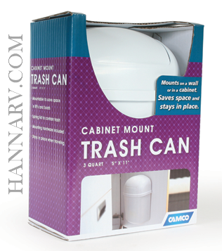 Camco 43961 Compact 3 Quart Cabinet And Wall Mount Trash Can