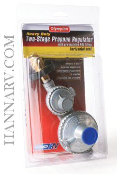 Camco 59333 Horizontal Two Stage Propane Regulator with P O L