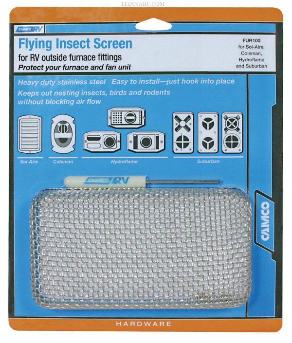 Camco Rv 42140 Furnace Flying Insect Screen Fur 100