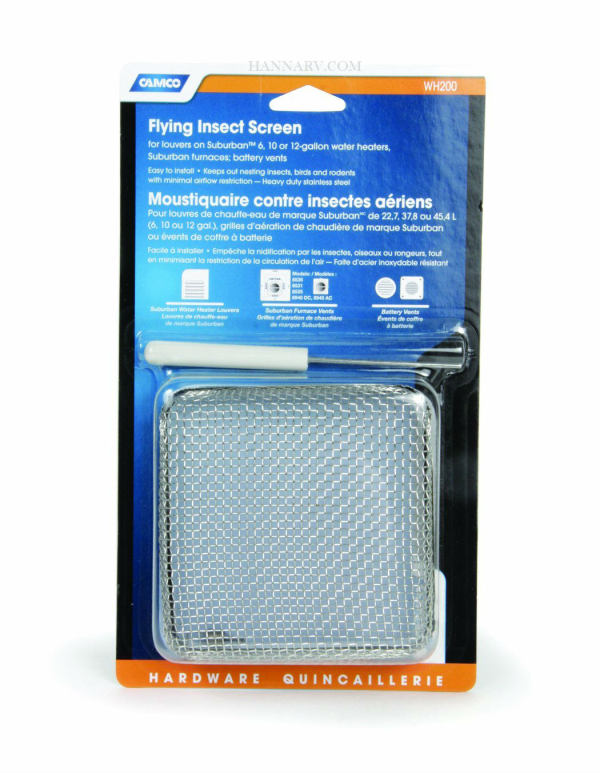 Camco 42150 Water Heater Flying Insect Screen Wh 200 Furnaces And Heaters Hanna Trailer Supply