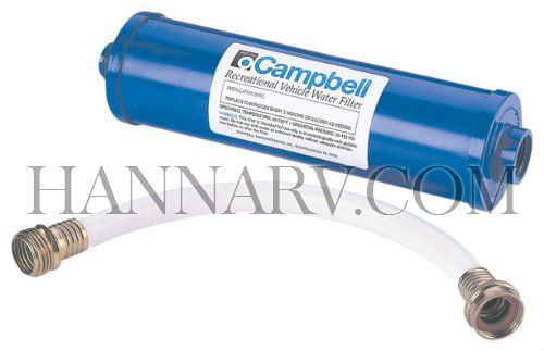 Campbell RVDH-34 Inline RV Water Filter (Includes 12 Inch Hose)