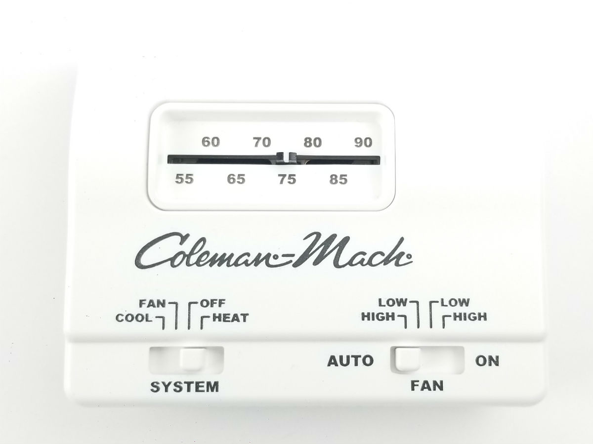 Coleman 7330G3351 Air Conditioner Heat Cool Wall Mount Thermostat-White
