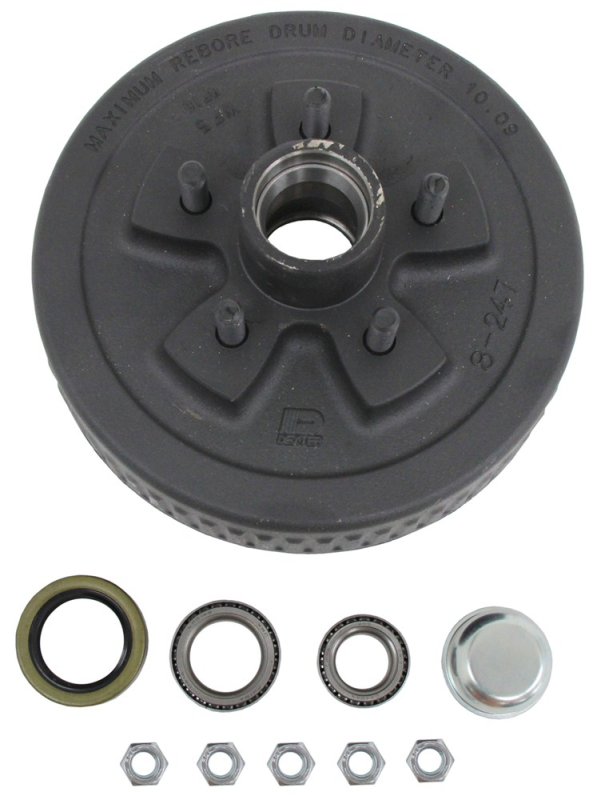 Complete Hub and Drum Assembly HD84546UC3 - 6 on 5-1/2 - L68149 and L44649 Bearings - 10 Inch x 2-1/