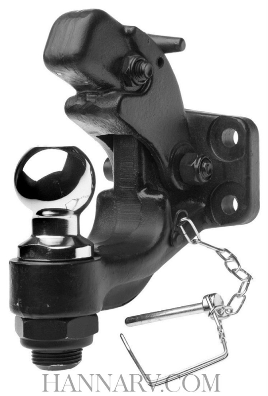 Curt MFG CPH-2516 Combination Pintle Hitch with 2-5/16 Inch Ball - 12,000 Lbs