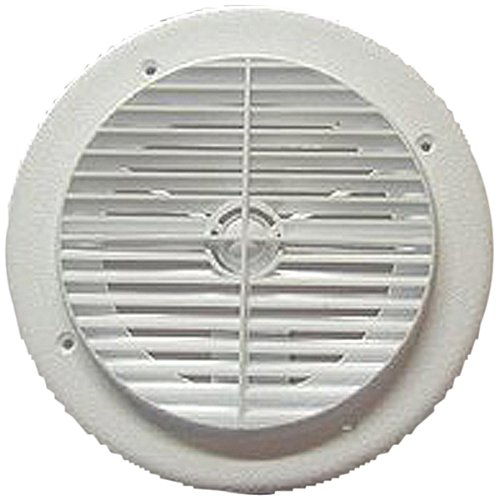 D And W Inc. 6840 Louvered Air Conditioner Vent - White