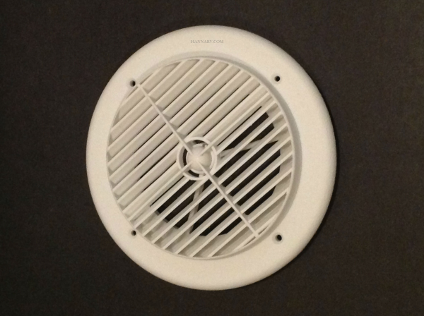 D And W Inc 6840 Louvered Air Conditioner Vent White