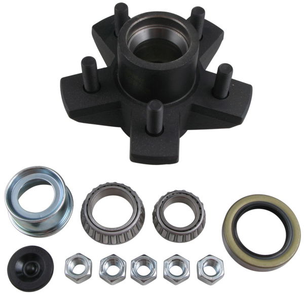 Dexter 84545UC1-EZ Complete E-Z Lube Hub Assembly - 5 on 4.5 - L68149/L44649 - For 3500 Lbs Axles -