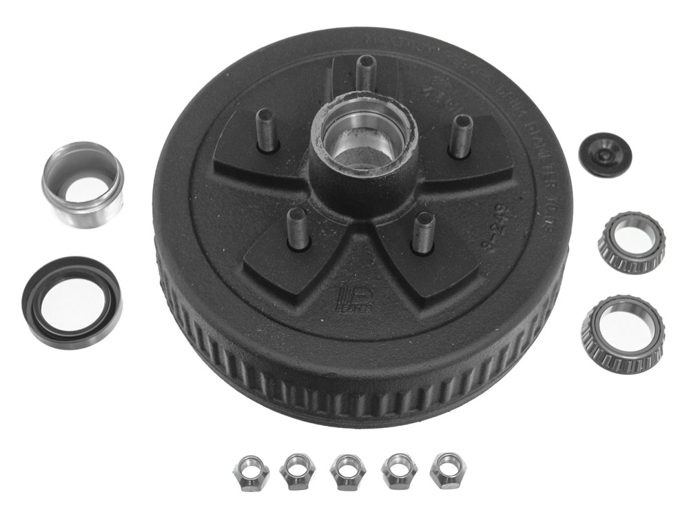 Dexter 84556UC3-EZ Complete E-Z Lube Hub and Drum Assembly - 5 on 5 - L68149 and L44649 Bearings - 1
