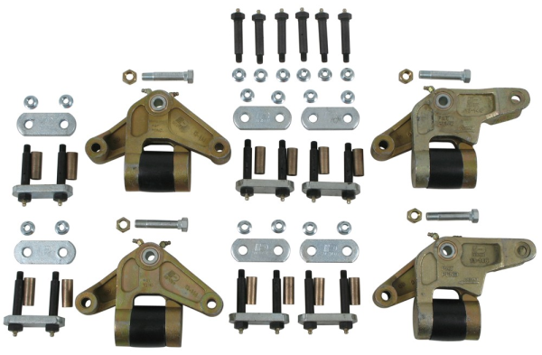Dexter K71-657-00 E-Z Flex Triple Axle Suspension Kit with 7-3/4 Inch Equalizer Bolt Nuts and Shackle