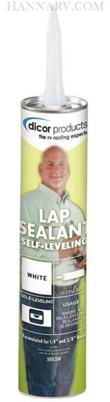 Dicor 501lsw Self Leveling Lap Sealant White 10 3 Oz
