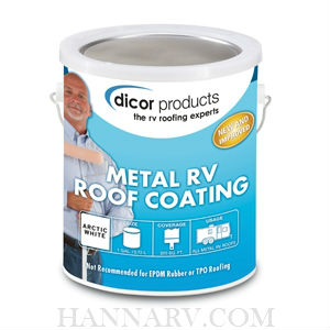 Dicor RP-MRC-1 Elastomeric Metal And Fiberglass RV Roof Coating - 1 Gallon