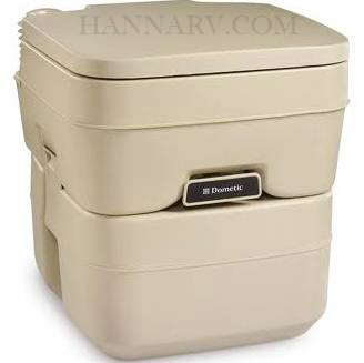 Dometic 301096602 SeaLand Sani-Pottie 966 Portable Toilet 5.0 Gallon - Parchment