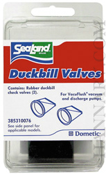 Dometic 385310076 SeaLand Toilet Duck Bill Valve Kit For S And T Series Pumps