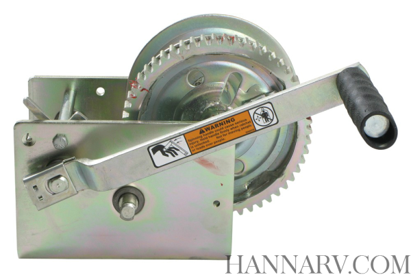 Dutton-Lainson 14825 DL2500A 2 Speed Trailer Hand Winch - 2500 Lbs Capacity - 17.3:1 / 5.4:1 Gear Ra
