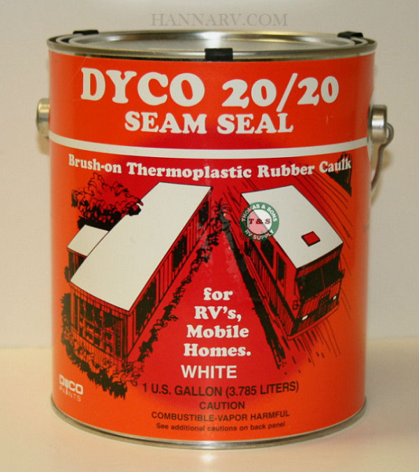 Dyco 20/20-GAL Brush-On White Seam Seal - 1 Gallon Container