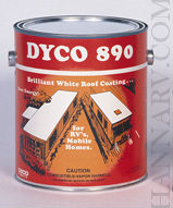 Dyco Paints 890 GAL White RV And Mobile Home Roof Coating - 1 Gallon