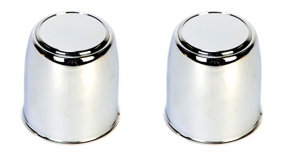 Excalibur 295EZ Chrome Center Cap - 2.95 Inch Diameter with Plug - 2 Pack