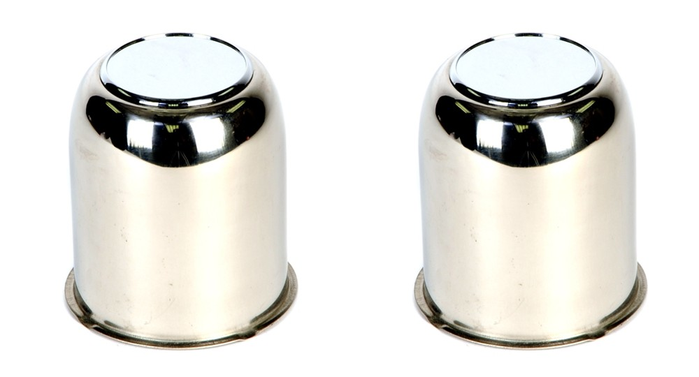 Excalibur 319EZ-SS Stainless Steel Center Cap - 3.19 Inch Pilot Diameter with Plug - 2 Pack