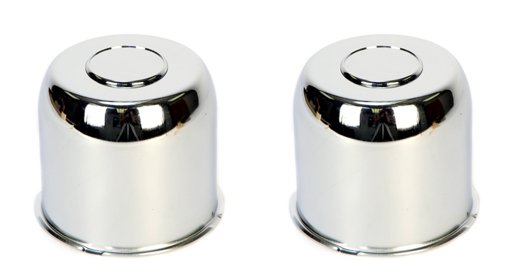Excalibur 482EZ Chrome Center Cap - 4.82 Inch Diameter with Plug - 2 Pack