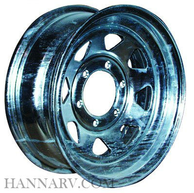 Galvanized Spoke Trailer Wheel WH156-5GVS 15 Inch x 6 Inch - 5 on 4-1/2 Bolt Pattern