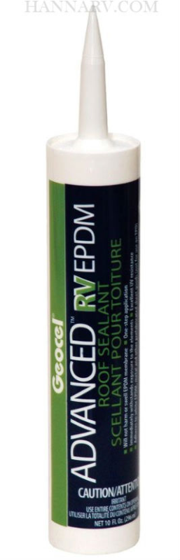 Geocel 56801 White Advanced EPDM RV Roof Sealant - 10 oz. Tube