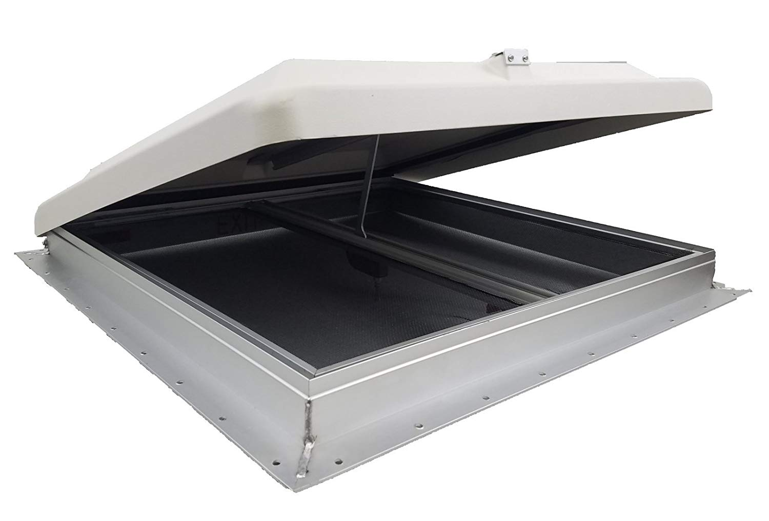 Hengs 68631-1 26 Inch x 26 Inch Super Exit Dome Escape Hatch with Garnish and White Lid