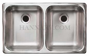 ... Hengs SSD 2515 5 22 Double Bowl Stainless Steel Sink   25 X