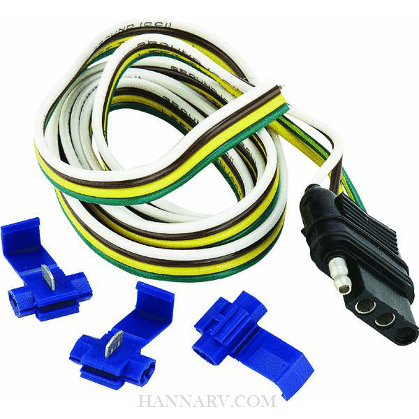hopkins 48025 4 wire flat tow vehicle connector kit mfg 48025 rh hannarv com 5 pin flat wiring harness flat four wiring harness