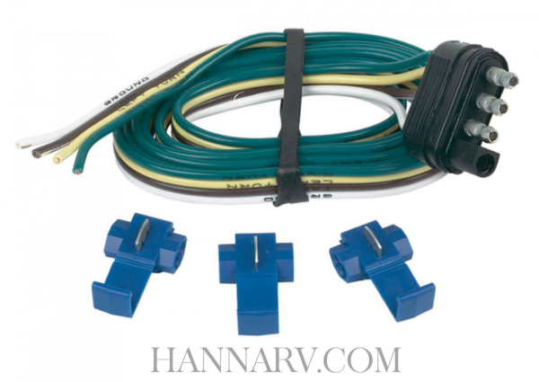 Hopkins 48125 4-Wire Flat Trailer End Connector Kit