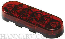 Innovative Lighting 260-4400-7 Oval 6-inch LED Grommet Mount Tail Light With Red Lens