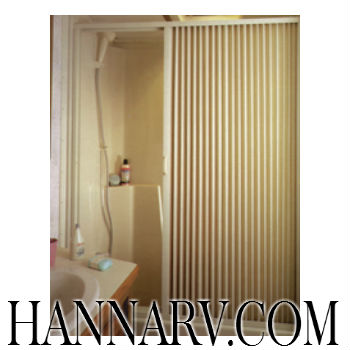 Irvine Shade & Door 3657SI Ivory Pleated Shower Door - 57 Inches Tall
