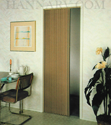 Irvine Shade & Door 3675FB Pleated Folding Door - Up To 36 Inches Wide - Beige