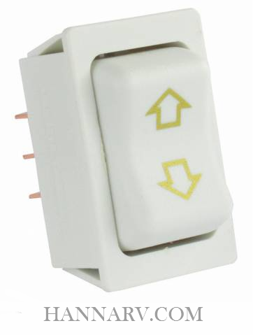 JR Products 12095 Replacement Slide-Out High Current Motor Switch White