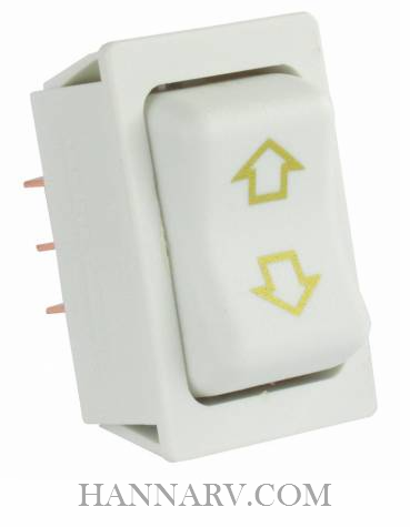 JR Products 12091-5 Replacement Slide-Out High Current Motor Switch - White - 5 Pack