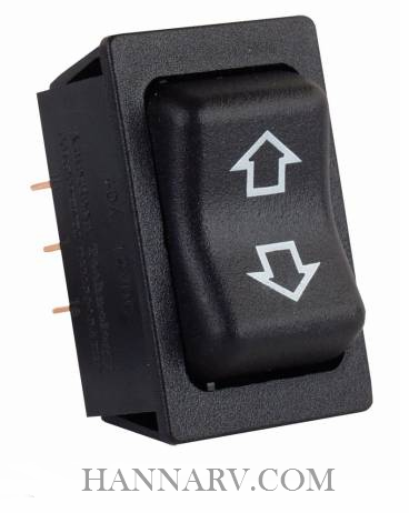 JR Products 12295 Replacement Slide-Out High Current Motor Switch - Black