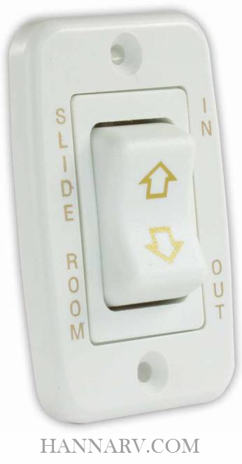 JR Products 12345 Low Profile Single Slide-Out Switch - White