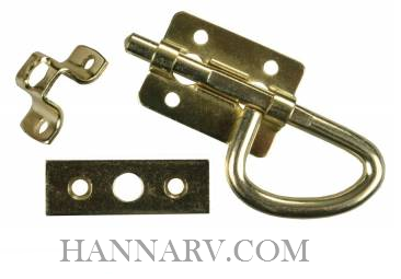 JR Products 20645 Universal Bolt Latch - Brass