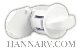 JR Products 433PW-A Plastic Replacement Hatch Thumb Lock - Polar White