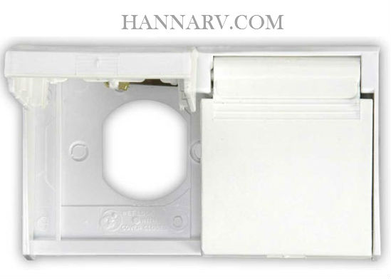 JR Products 47505 Duplex Weatherproof Outlet Cover   Polar White