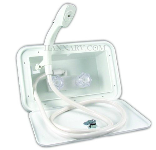 JR Products 5M102-A Polar White Exterior Shower Unit