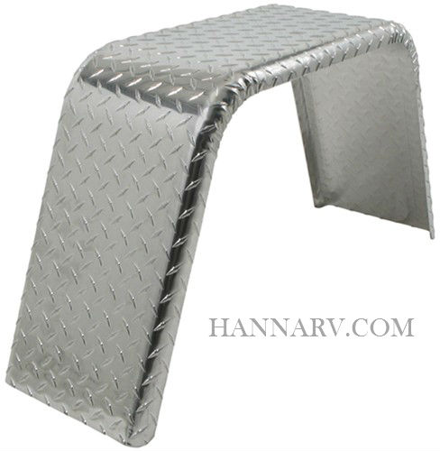 Jeep Style Fender J101733AT Aluminum Treadplate - 1/2 Inch Radius - 10 Inches Wide x 33 Inches Long